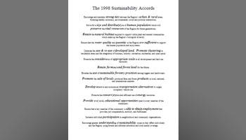 1998 Sustainability Accords